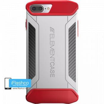 Чехол Element Case CFX White / Red для iPhone 7 Plus / 8 Plus белый с красным