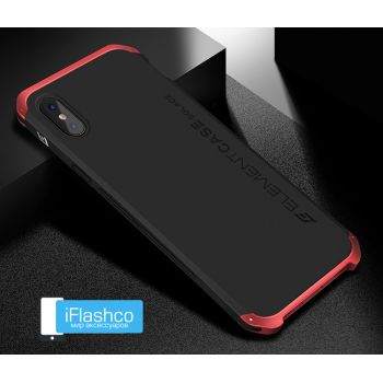 Чехол Element Case Solace Black w/Red для iPhone X/Xs