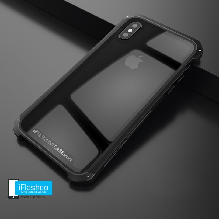 Чехол Element Case Solace Glass Black для iPhone X/Xs
