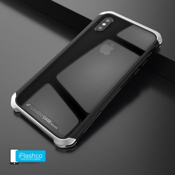 Чехол Element Case Solace Glass Black w/Silver для iPhone X/Xs