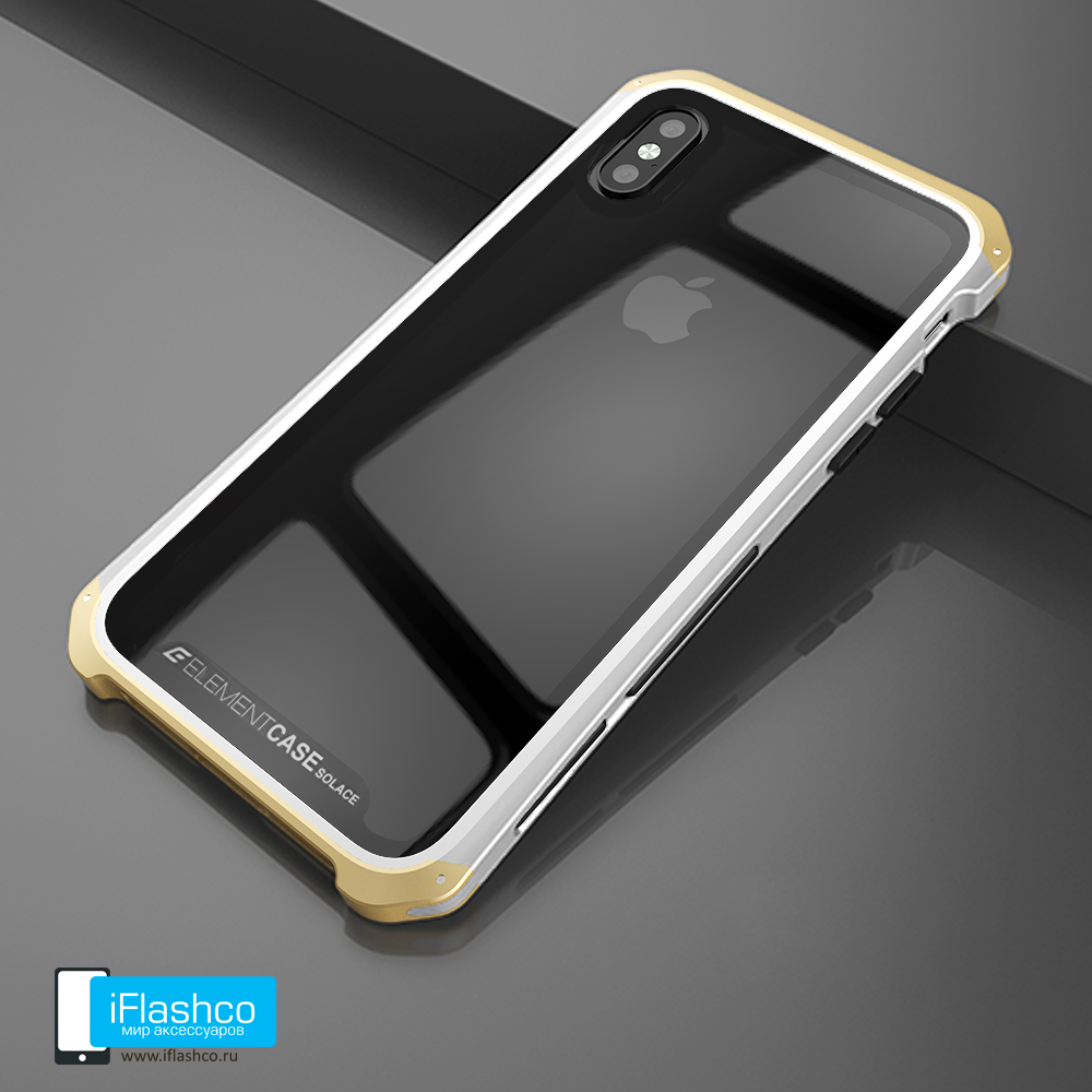 5fbf5518 Купить Чехол Element Case Solace Glass White w/Gold для iPhone X/Xs ...