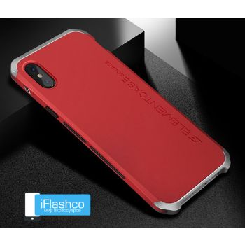 Чехол Element Case Solace Red w/Silver для iPhone X/Xs