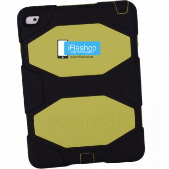 Чехол Griffin Survivor All-Terrain Black/Yellow для iPad Air 2 черный с салатовым