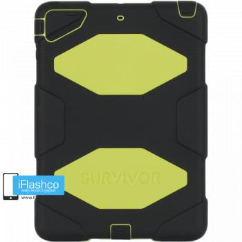 Чехол Griffin Survivor All-Terrain для iPad Air черный с салатовым