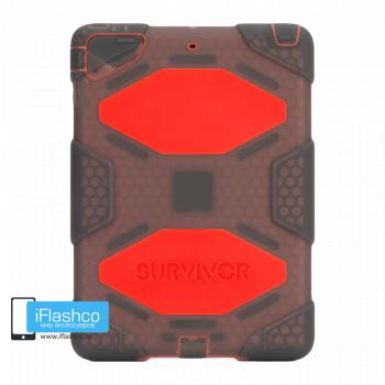 Чехол Griffin Survivor All-Terrain для iPad Air серый прозрачный с красным