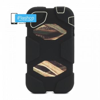 Чехол Griffin Survivor для iPhone 4 / 4S черный с коричневым рисунком
