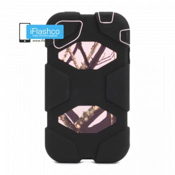 Чехол Griffin Survivor для iPhone 4 / 4S черный с розовым рисунком
