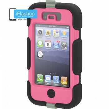 Чехол Griffin Survivor для iPhone 4 / 4S черный с розовым