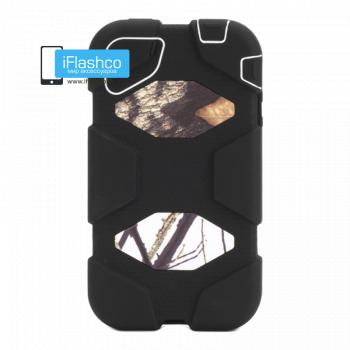 Чехол Griffin Survivor для iPhone 4 / 4S черный с серым рисунком