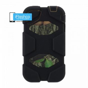 Чехол Griffin Survivor для iPhone 4 / 4S черный с зеленым рисунком