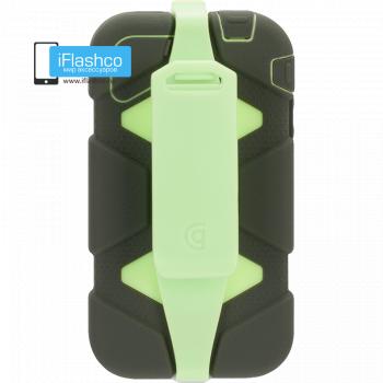 Чехол Griffin Survivor для iPhone 4 / 4S черный с зеленым