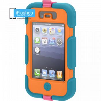 Чехол Griffin Survivor для iPhone 4 / 4S голубой с оранжевым