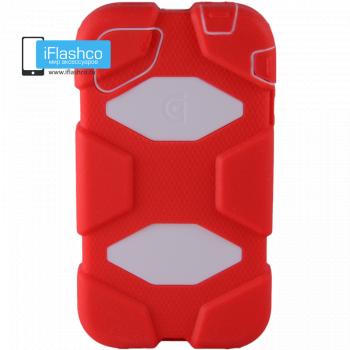 Чехол Griffin Survivor для iPhone 4 / 4S красный с белым