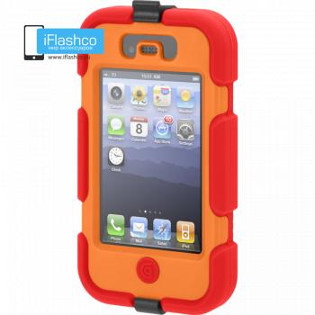 Чехол Griffin Survivor для iPhone 4 / 4S красный с оранжевым