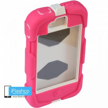 Чехол Griffin Survivor для iPhone 4 / 4S розовый с белым