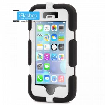 Чехол Griffin Survivor для iPhone 5 / 5S / SE черный с белым