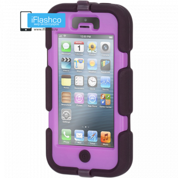 Чехол Griffin Survivor для iPhone 5 / 5S / SE черный с фиолетовым