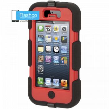Чехол Griffin Survivor для iPhone 5 / 5S / SE черный с красным