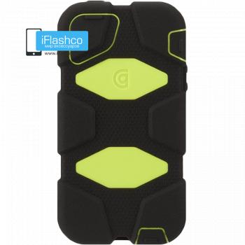 Чехол Griffin Survivor для iPhone 5 / 5S / SE черный с салатовым