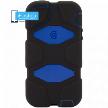 Чехол Griffin Survivor для iPhone 5 / 5S / SE черный с синим