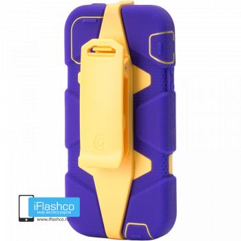 Чехол Griffin Survivor для iPhone 5 / 5S / SE фиолетовый с оранжевым