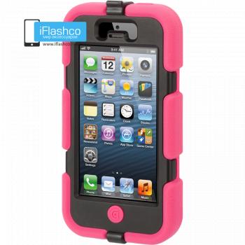 Чехол Griffin Survivor для iPhone 5 / 5S / SE розовый с черным