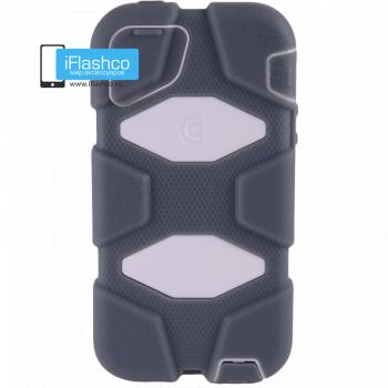 Чехол Griffin Survivor для iPhone 5 / 5S / SE серый с белым