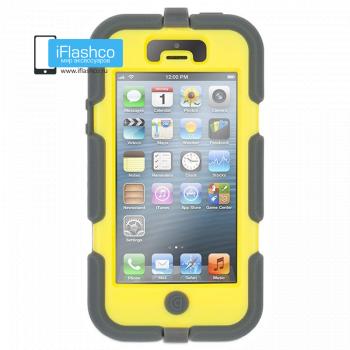 Чехол Griffin Survivor для iPhone 5 / 5S / SE серый с желтым