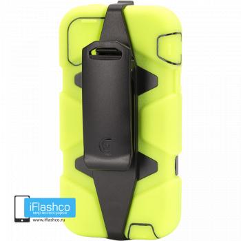 Чехол Griffin Survivor для iPhone 5 / 5S / SE светло-желтый с черным