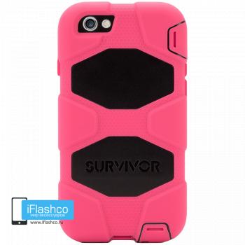 Чехол Griffin Survivor для iPhone 6 / 6s розовый с черным