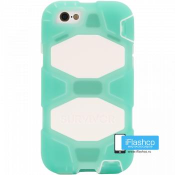 Чехол Griffin Survivor для iPhone 6 / 6s зеленый прозрачный