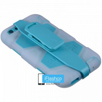 Чехол Griffin Survivor для iPhone 6 Plus / 6s Plus белый с голубым