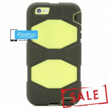 Чехол Griffin Survivor для iPhone 6 Plus / 6s Plus черный с желтым