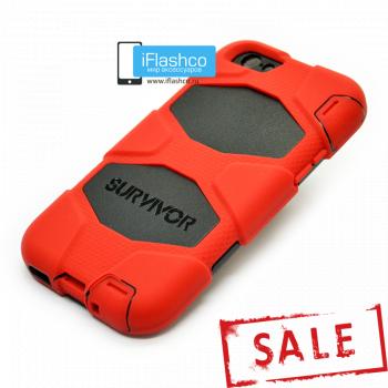 Чехол Griffin Survivor для iPhone 6 Plus / 6s Plus красный с черным