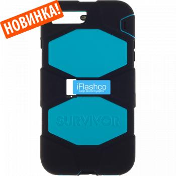 Чехол Griffin Survivor для iPhone 7 Plus / 8 Plus черный с голубым