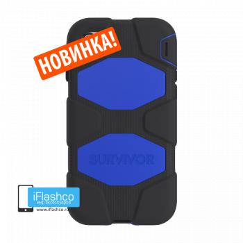 Чехол Griffin Survivor для iPhone 7 Plus / 8 Plus черный с синим
