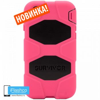 Чехол Griffin Survivor для iPhone 7 Plus / 8 Plus розовый с черным