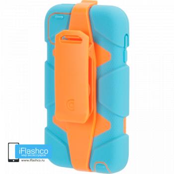 Чехол Griffin Survivor для iPod touch 5 / 6 голубой с оранжевым