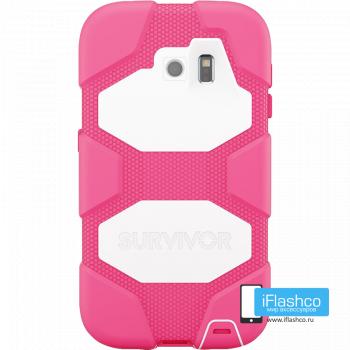 Чехол Griffin Survivor для Samsung Galaxy S6 розовый с белым