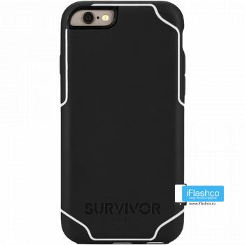 Чехол Griffin Survivor Strong для iPhone 6 черный с белым