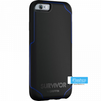 Чехол Griffin Survivor Strong для iPhone 6 черный с синим