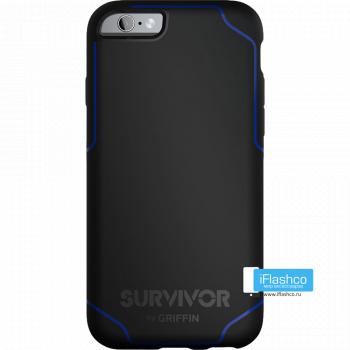 Чехол Griffin Survivor Strong для iPhone 6 Plus / 6s Plus черный с синим