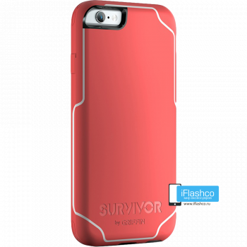 Чехол Griffin Survivor Strong для iPhone 6 розовый
