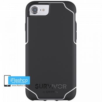 Чехол Griffin Survivor Strong для iPhone 7/8/SE черный с белым