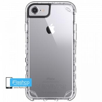 Чехол Griffin Survivor Strong для iPhone 7 / 8 серый прозрачный