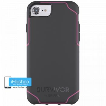 Чехол Griffin Survivor Strong для iPhone 7/8/SE серый с розовым