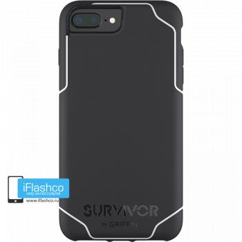 Чехол Griffin Survivor Strong для iPhone 7 Plus / 8 Plus черный с белым