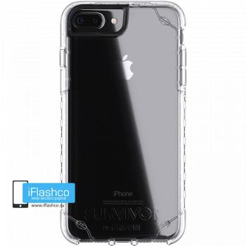 Чехол Griffin Survivor Strong для iPhone 7 Plus / 8 Plus серый прозрачный