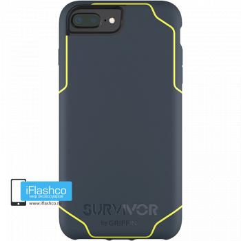 Чехол Griffin Survivor Strong для iPhone 7 Plus / 8 Plus синий с желтым