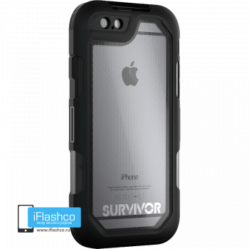Чехол Griffin Survivor Summit (Extreme) для iPhone 6 / 6s черный прозрачный